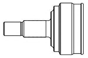844041 GSP ШРУС наружный Ланос 1,5 22 зуба ()