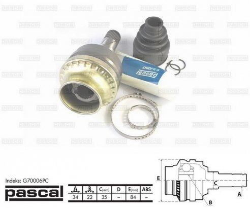G70006PC PASCAL ШРУС внутренний комплект (FEBEST): Lanos, Nubira, Nexia